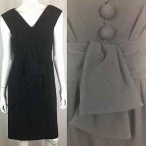 Nanette Lepore Button Up Pleated Sheath Dress